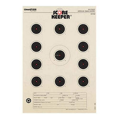 Orange Bullseye Targets - 50ft Air Gun, Small Bore (Per 12)