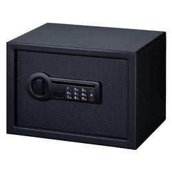 Personal Safe - Electronic Lock with Shelf, Black