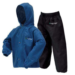 Polly Woggs Kids Rain Suit - Royal Blue-Black, Medium