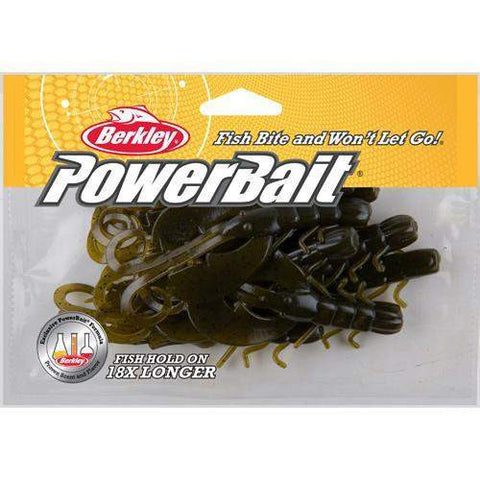 "Powerbait Crazy Legs Chigger Craw, 4"" - Green Pumpkin"