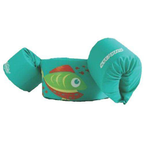 Puddle Jumper - Girl, Children 30-50 lb, Green with Fish Design