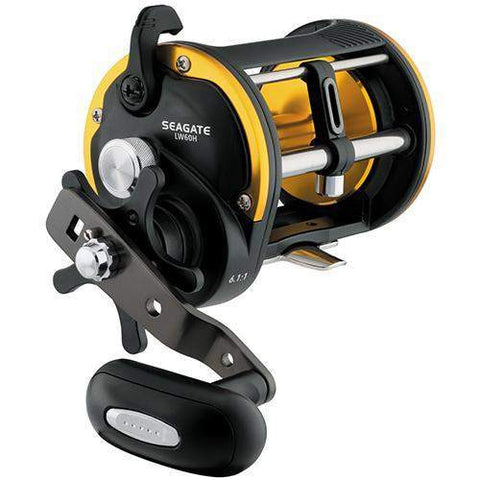 Seagate Levelwind Saltwater Conventional Reel - 60, 6.1:1 Gear Ratio, 1CRBB, 2BB, 1RB Bearings, 20 lb Max Drag, Right Hand