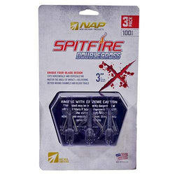 Spitfire Double Cross, 100 Grains, 3 Pack