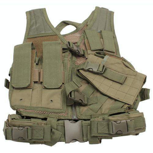 Tactical Vest - Childrens, Green XS-S