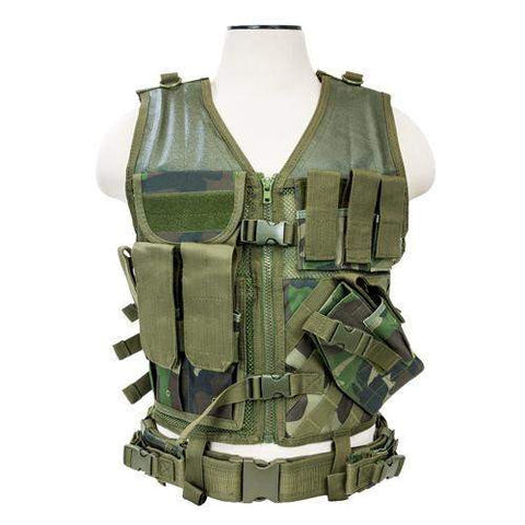 Tactical Vest - Woodland Camo, M-XL