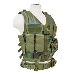 Tactical Vest - Woodland Camo, XL-XXL+