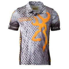 Team Browning Shooting Polo Shirt - Gray, Small
