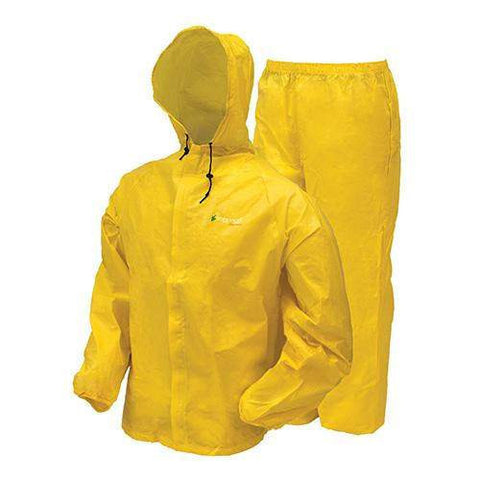 Ultra-Lite2 Rain Suit w-Stuff Sack - Large, Yellow