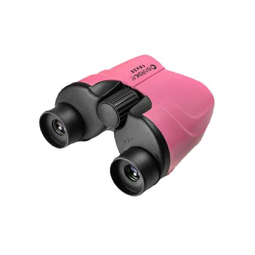 Colorado Waterproof Compact Binoculars - 10x25mm, Porro Prism, Blue Lens, Pink, Clam Packahe