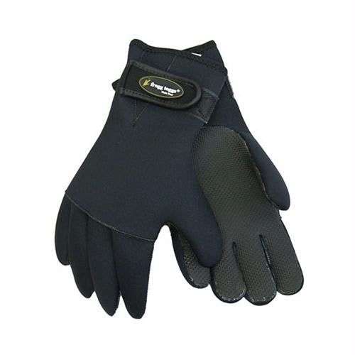 Fingers Adjustable 3.5mm Neoprene Gloves - Black, Medium-Large