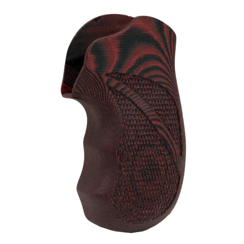 G-10 Tactical Pistol Grips - Ruger LCR, Checkered, Red-Black