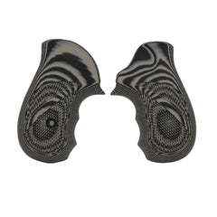 G-10 Tactical Pistol Grips - Ruger SP101, Checkered, Gray-Black