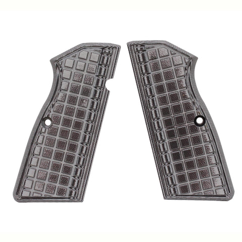 G-10 Tactical Pistol Grips - Browning Hi Power G10, Grappler, Gray-Black