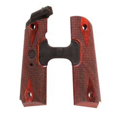 Laser Enhanced Grip - Red Laser, Government Model 1911, Reinforced Rosewood Checkered