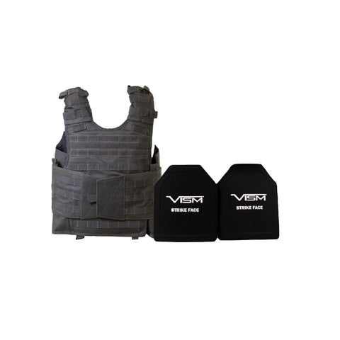 "Expert Carrier Vest with 10"" x 12"" PE Hard Plates - Urban Gray"