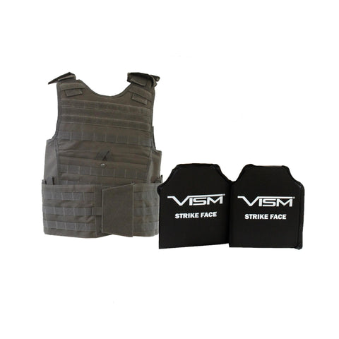 "Expert Plate Carrier Vest with 10"" x 12"" Soft Panels - Urban Gray"
