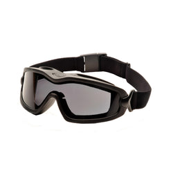 V2G Plus Safety Glasses - Gray Anti-Fog Dual Lens with Black Strap