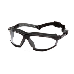 Isotope Safety Glasses - Clear H2MAX Anti-Fog Lens with Black Frame