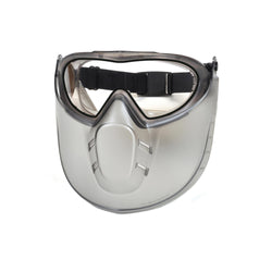 Capstone - Dual Lens Goggle and Shield, Clear Anti-Fog Dual Lens with Clear Shield