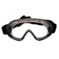 Capstone - 500 Series, Gray Direct-Indirect Goggle with Clear Anti-Fog Lens