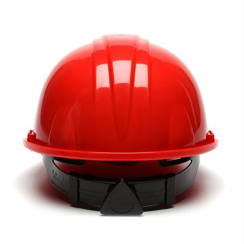 SL Series 4 Point Ratchet Suspension Hard Hat - Red