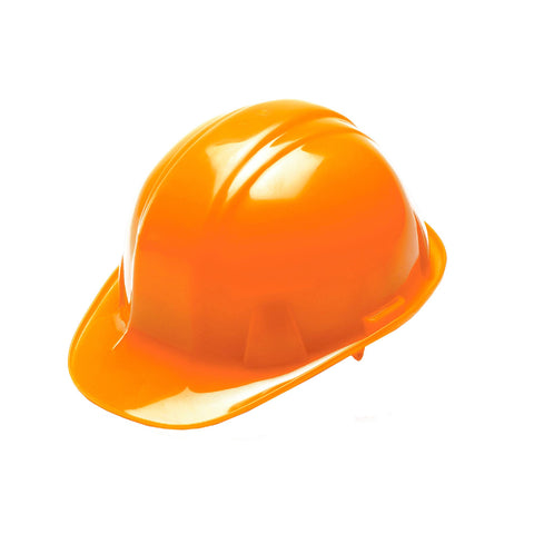 SL Series 4 Point Ratchet Suspension Hard Hat - Hi Vis Orange