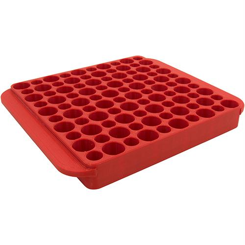 Reloading Tray - Magnum, Holds 50 Rounds, Red