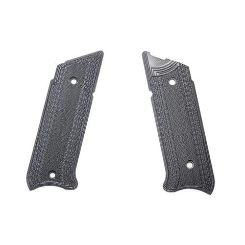 G-10 Tactical Pistol Grips - Ruger Mark IV, Gray-Black, Checkered