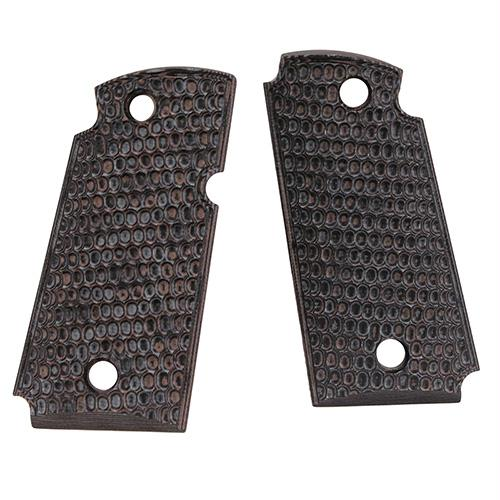 Kimber Micro 9 Ambi Safety Piranha G10 - G-Mascus Grips - Black-Gray
