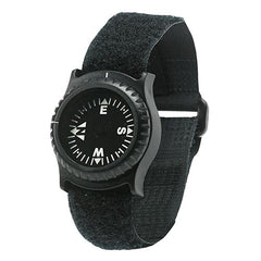 NDuR Wrist Compass with djustable Strap, Black