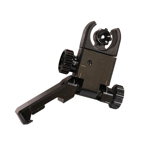 C4 Flip-Up Sight - Rear, AR-15-LR-308, Black