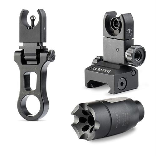 C4 Sight System Combo Dynamount Flip-Up Front Sight, Flip-Up Rear Sight - Athena Linear Compensator LR-308 5-8