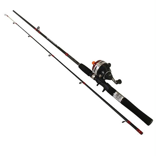 Rhino Spincast Combo - 2.9:1 Gear Ratio, 3 Bearings, 6' 2pc, 6-14 lb Line Rating, Ambidextrous