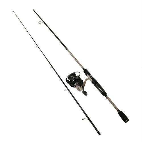 American Hero Camo Speed Spin Spinning Combo - 6.2:1 Gear Ratio, 6'6