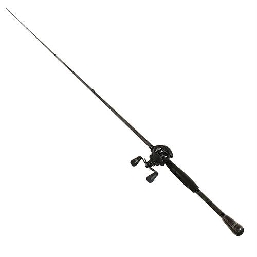 Custom Black LFS Baitcasting 1 Piece Combo - 7.5:1 Gear Ratio 20 lb Max Drag, 7'3