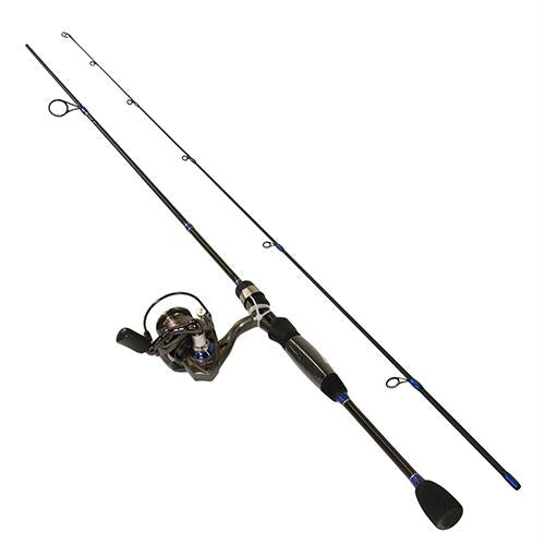 Lews Laser Lite Speed Spinnging 2 Piece Combo - 5.2:1 Gear Ratio, 6'6