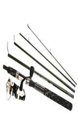 Voyager Express 5 Piece Spinning Combo - 20, 4.8:1 Gear Ratio, 6' Length, 4-10 lb Line Rate, Md-Light Power, Ambidextrous