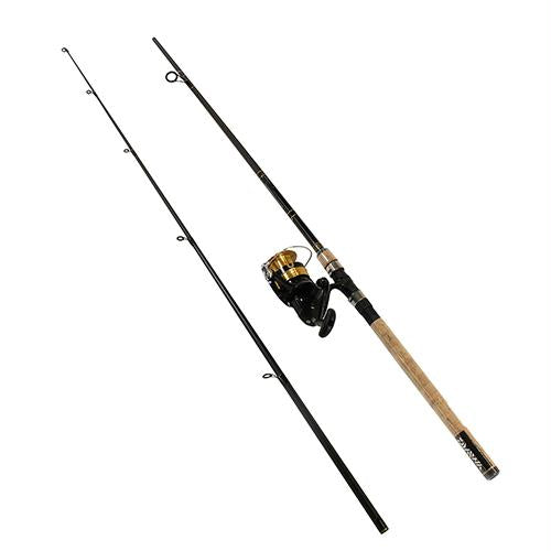 D-Shock Freshwater Spinning Combo - 4000, 1 Bearings, 8' Length, 2 Piece, Heavy Power, Ambidextrous
