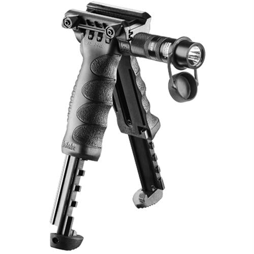 2nd Generation Bipod-Foregrip with Built-in Tactical Light - Black