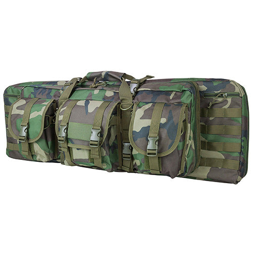Double Carbine Case-Woodland Camo-46 In