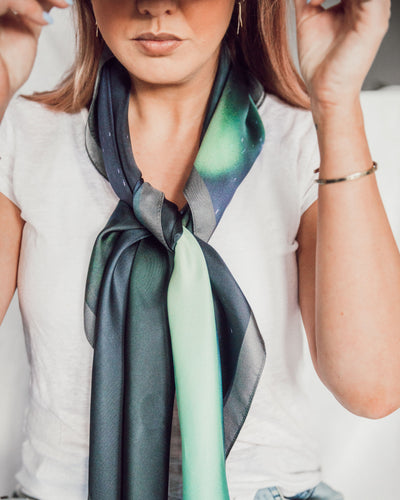 The Northern Lights Silk Scarf