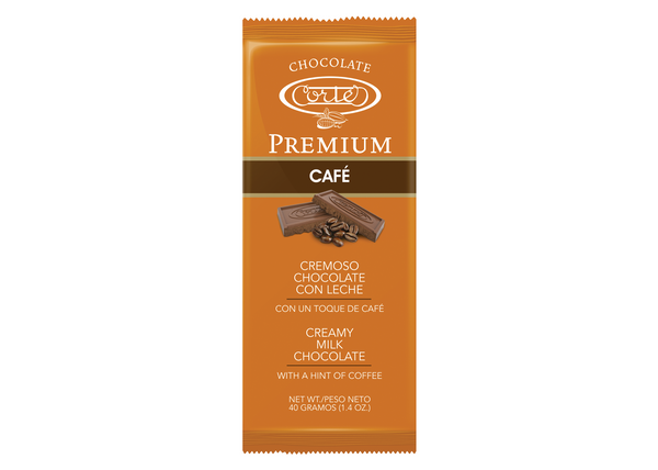 Chocolate Cortés Premium Milk Chocolate Coffee Bar 1.4oz
