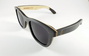 Black Maple Wayfarer Sunglasses with a Polarized Black Lens