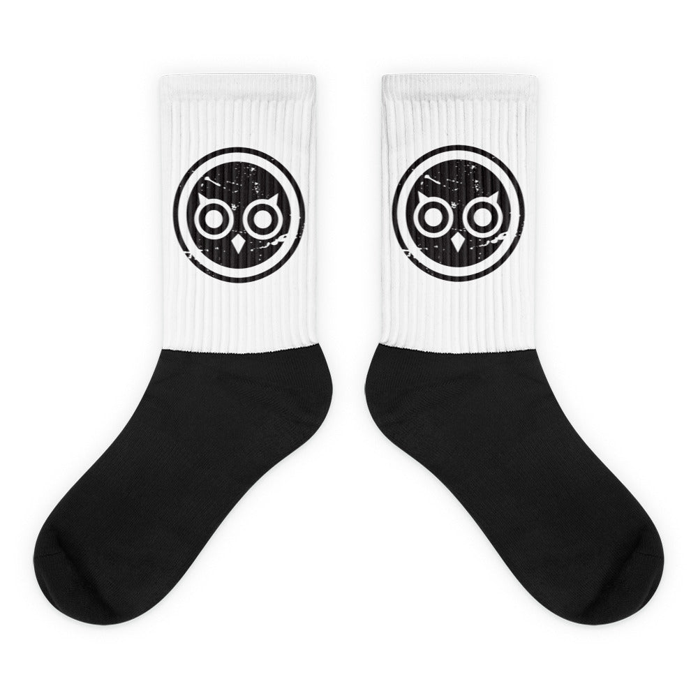 HOOT Black foot socks