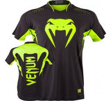 VENUM HURRICANE X FIT™ T-SHIRT - BLACK/NEO YELLOW - MMAoutfit - 1
