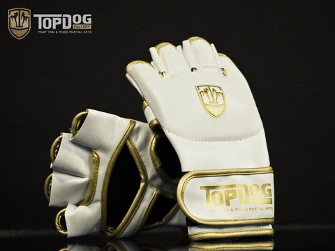 TOPDOG CLASSIC WHITE MMA GLOVES - MMAoutfit - 1