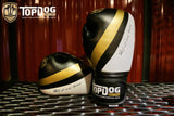Topdog Muay Thai Gloves - Black With Gold Stripe - MMAoutfit - 1