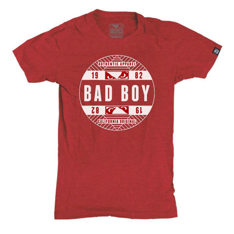 BAD BOY OFFICIAL T-SHIRT - RED - MMAoutfit