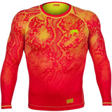 VENUM FUSION COMPRESSION T-SHIRT - LONG SLEEVES - ORANGE/YELLOW - MMAoutfit - 1