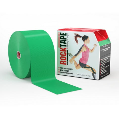 "RockTape Active-Recovery Series Tape  (W10cm x L32m) 4"" Big Daddy - Green"